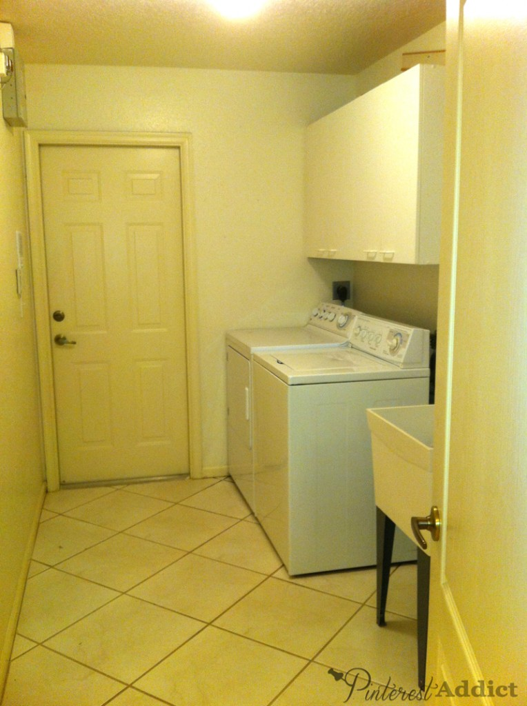 new house laundry room day 1