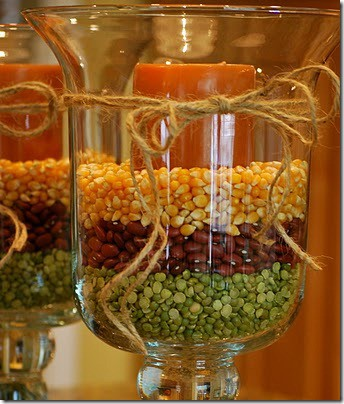 Thanksgiving or Fall Hurricane Lamps