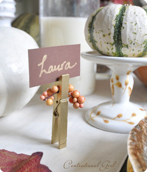 Place card Holders from Centsational Girl