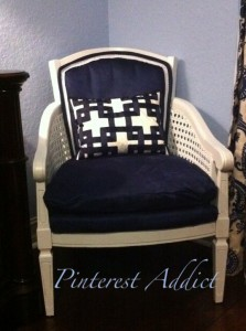 blue chair after