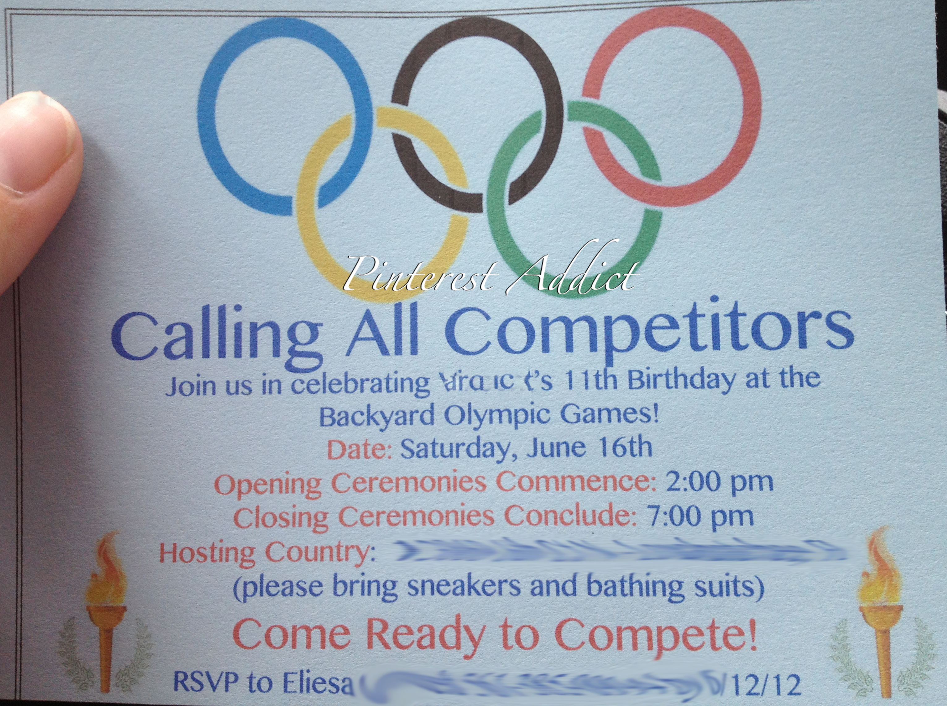 olympics theme for an evite | just b.CAUSE