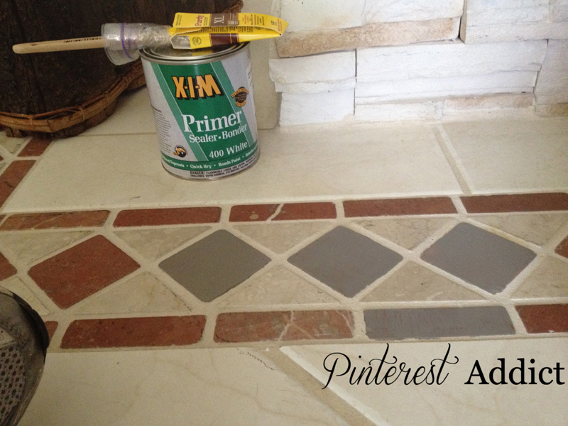 Painting Floor tile - X-I-M Primer