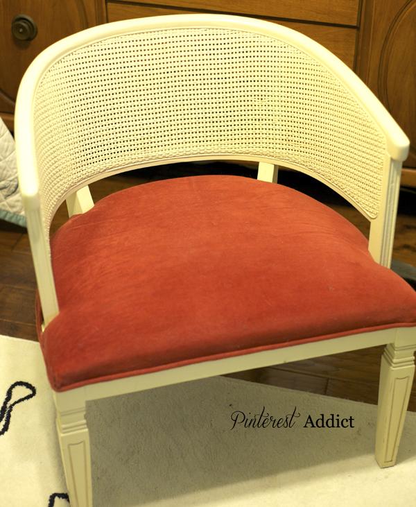 Vintage Barrel Chair Before