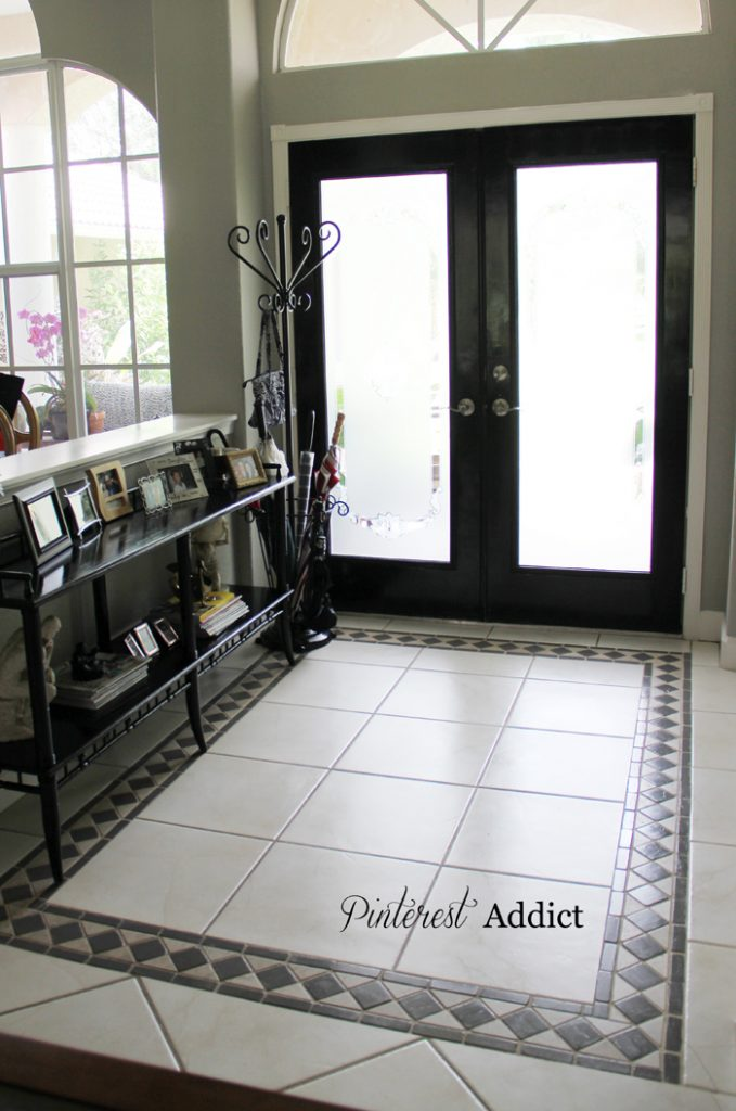 Painting Floor Tile Gauntlet Grey Tiles