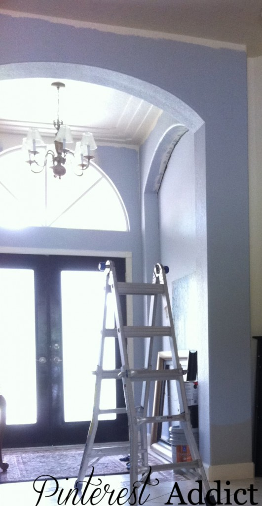Painting Floor tile - This gray was too purple