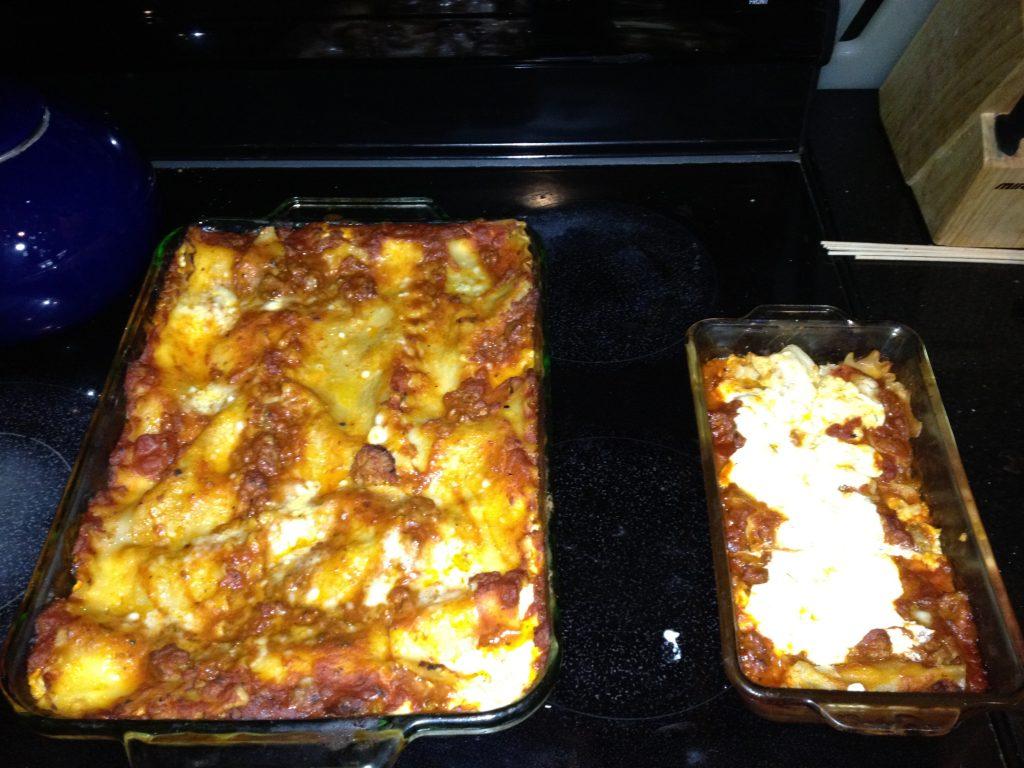 Gluten Free Lasagna - it was delicious!
