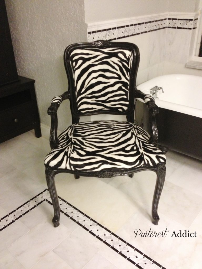 Bathroom Chair Update | Pinterest Addict