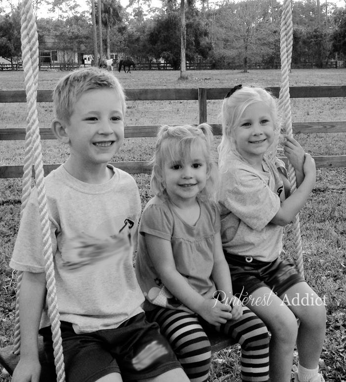 three on a swing