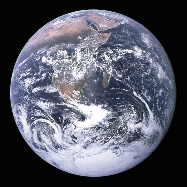 The Earth as seen from Apollo 17