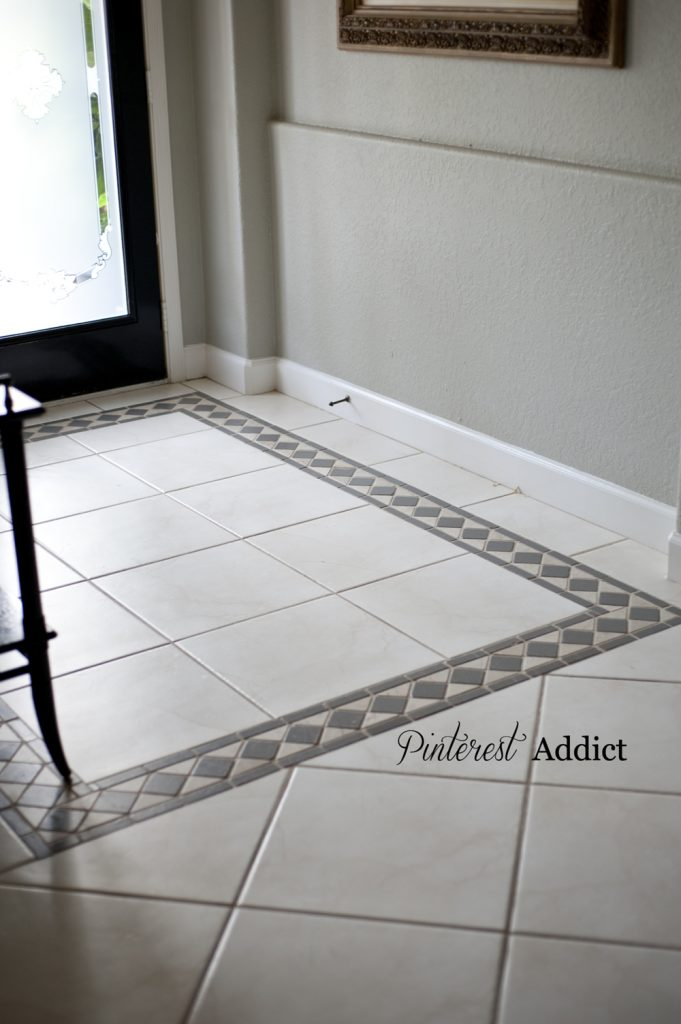 Painted Floor Tile Update Pinterest Addict - Repainting floor tiles