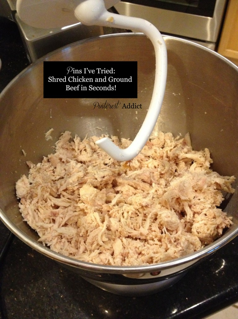 Perfectly Shredded Chicken in Seconds