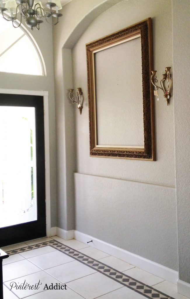 Empty frame sconces