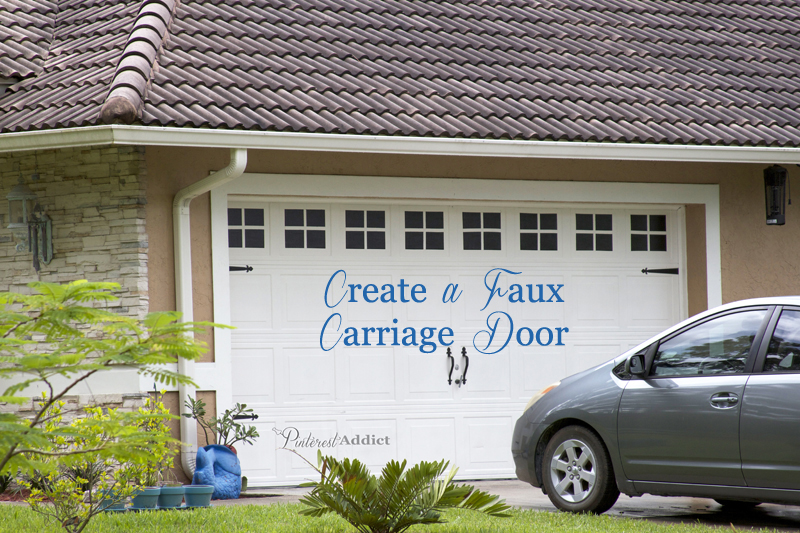 Creating a faux carriage garage door pinterest addict for Home hardware garage packages cost