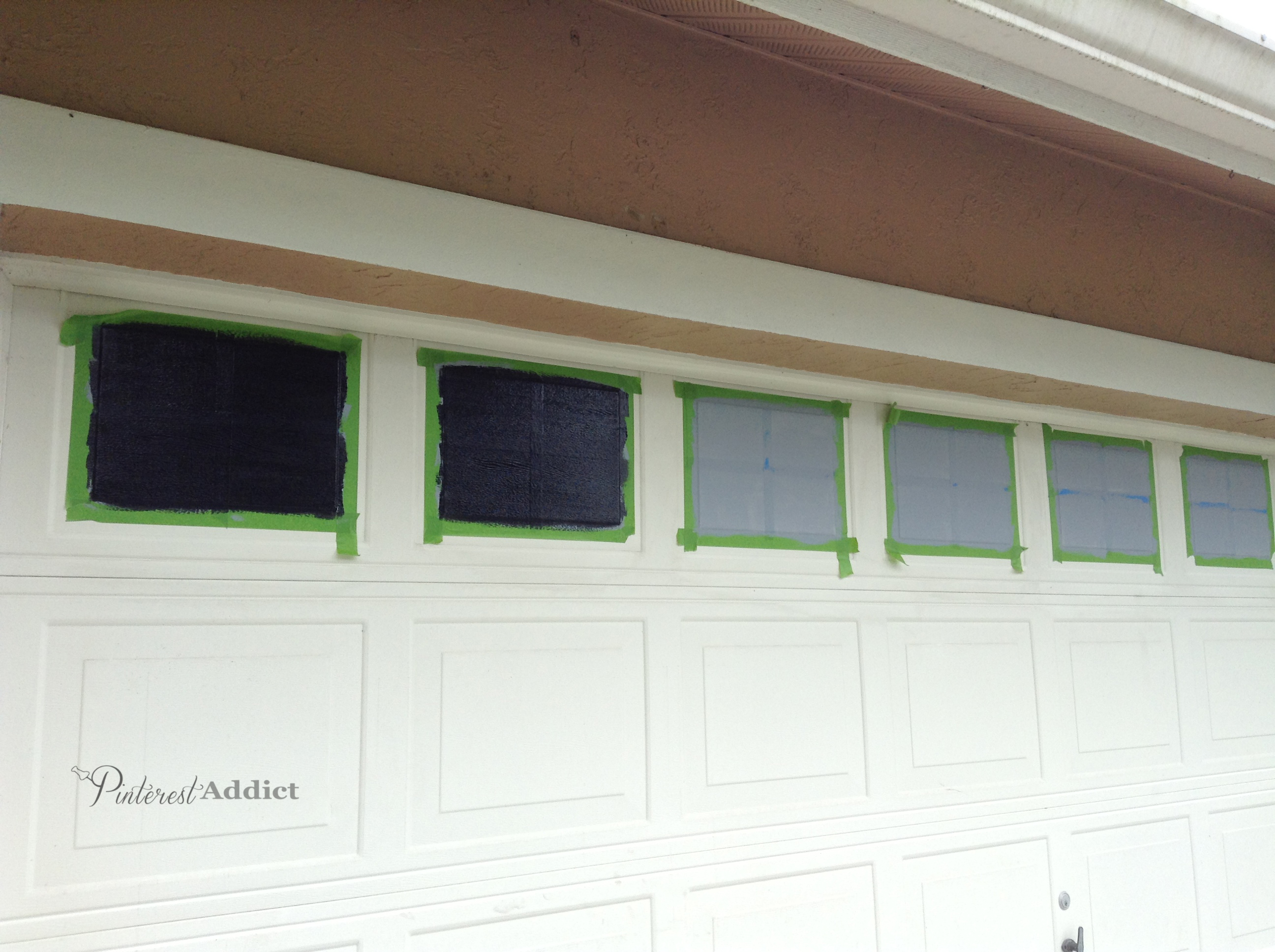 Faux Carriage Garage Door Primer And Paint