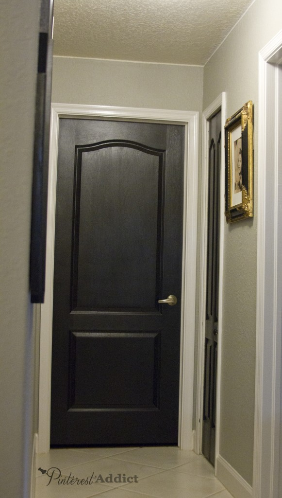 Painting Foyer Doors : Painting the interior doors black
