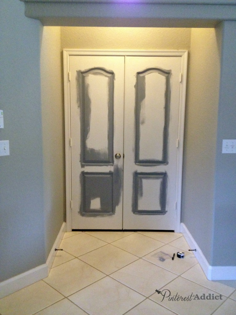 Primer started on master doors