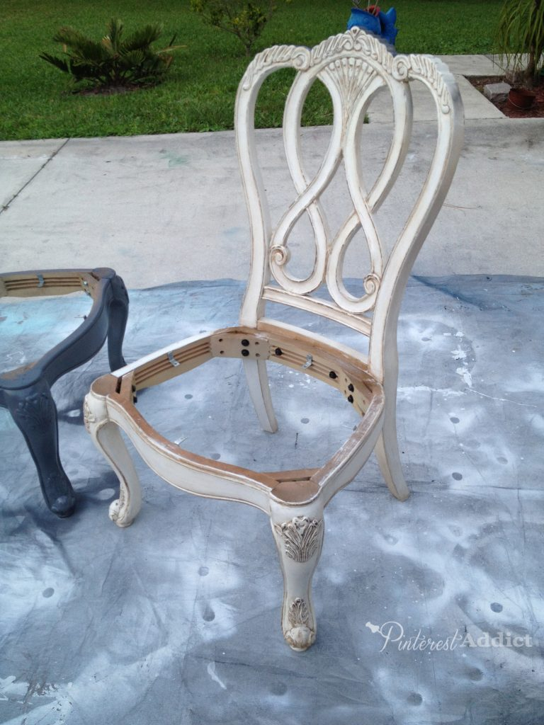 """Painted """"trash"""" chair"""