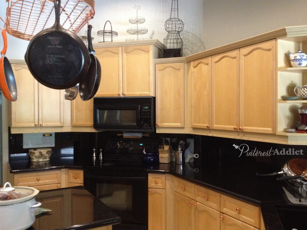black granite backsplash
