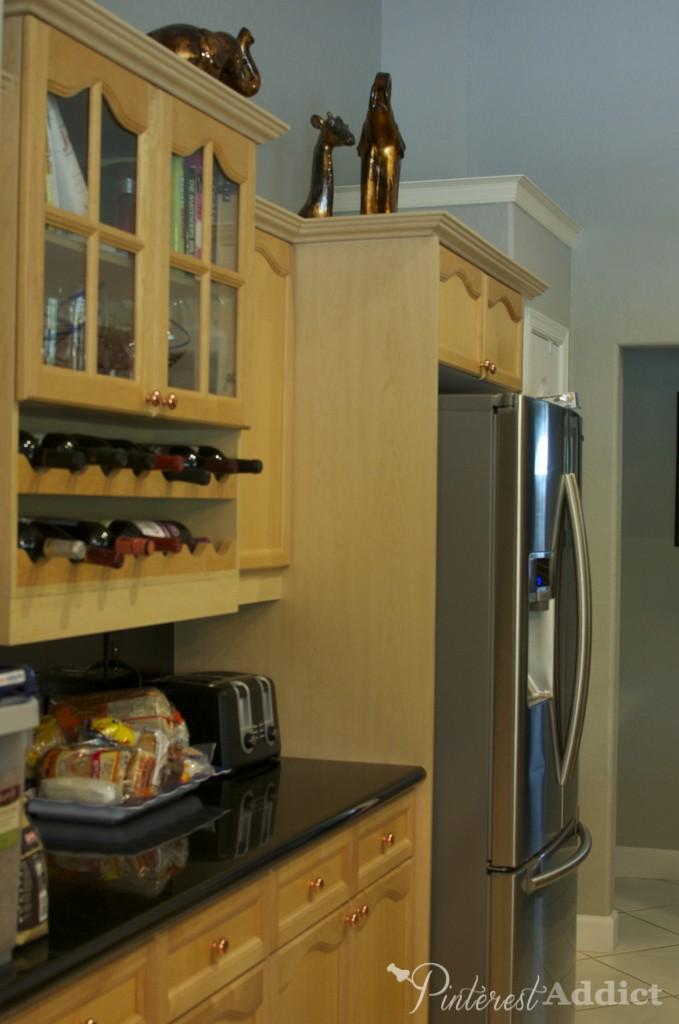 kitchen before - fridge side