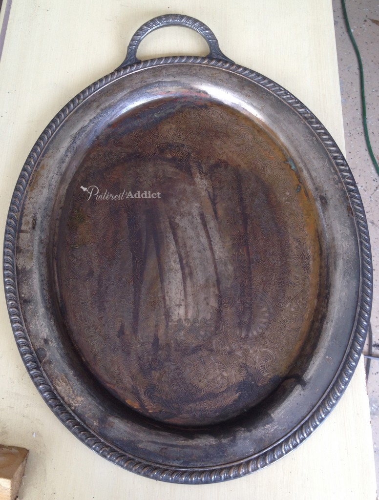 silver platter before